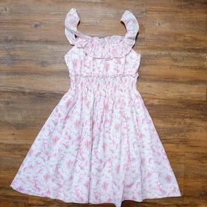 Ralph Lauren Floral Pink|white Spring Dress